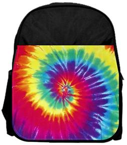 """Bright tie dye 14"""" x 12"""" Small Backpack and 4.5"""" x 8.5"""" Penc"""