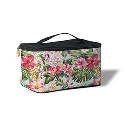Queen of Cases Bright Vintage Flowers Cosmetics Storage Case