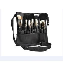Professional 22 Pockets PU Leather Cosmetic Makeup Brush Bag