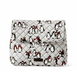 brush case playful penguins gray