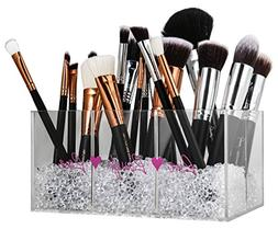 Makeup Brush Holder & Makeup Organizer with Diamond Beads: M