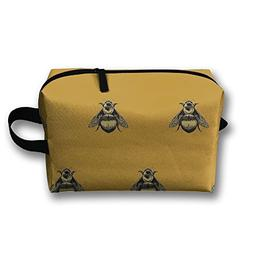 Bumblebee Pattern Travel Bag Cosmetic Bags Brush Pouch Porta