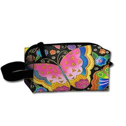 Butterfly Showy Toiletry Bag Cosmetic Bag Zipper Pouch Large