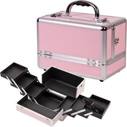 Sunrise C0001PPPK Pink Cosmetic Case