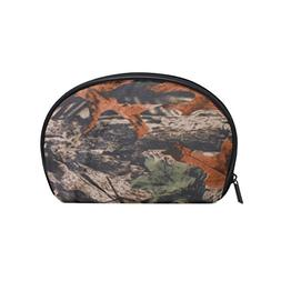 ALAZA Camouflage Tree Half Moon Cosmetic Makeup Toiletry Bag