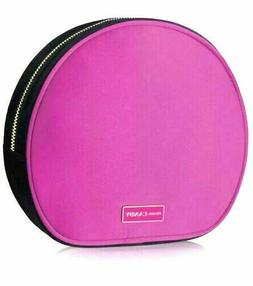 6a41826d9645 Editorial Pick Prada CANDY silky hot PINK black round Makeup Pouch Cosmetic