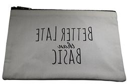 Canvas Makeup Bag, Cotton Cosmetic Pouch, Toiletry Travel Ca