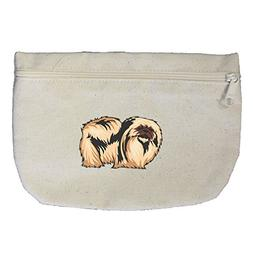 Canvas Pouch Zipper Makeup Bag Pekingese By Style In Print