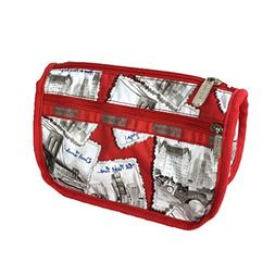 LeSportsac Travel Cosmetic Case, Greetings From NY Red