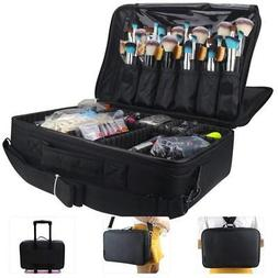 MONSTINA Large Capacity Makeup Case 3 Layers Cosmetic Organi