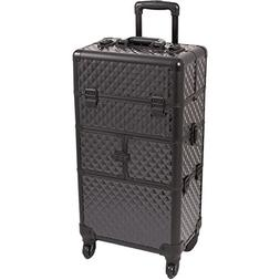 SUNRISE Makeup Case on Wheels 2 in 1 Professional Organizer