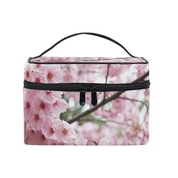 ALIREA Cherry Blossom Cosmetic Bag Travel Makeup Train Cases