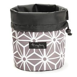 cinch top compact travel makeup bag