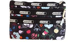 LeSportsac Classic 3 Zip Cosmetic Case