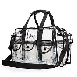 Nanshy Clear Makeup Artist Bag MUA, Large Storage Travel Zip