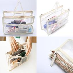 HOYOFO Clear Handbag Organizers Travel Makeup Toiletry Stora