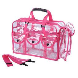 Clear PVC Travel Makeup Cosmetic Bag with 6 External Pockets