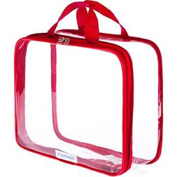 Clear Toiletry Bag - Compression Packing Cube - PVC Cosmetic