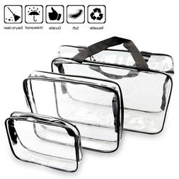 Clear Toiletry Makeup Bags, PVC Plastic Travel Cosmetic Bag