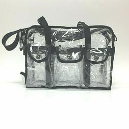 RickyCare Clear Tote Bag Transparent Cosmetic Shoulder Handb