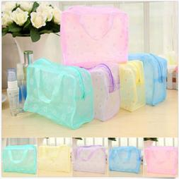 Clear Transparent Plastic  PVC Travel Makeup Bag Cosmetic To