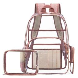 clear transparent pvc multi pockets school backpack