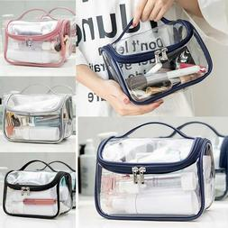 Clear Wash Makeup Bag Travel Cosmetic Transparent PVC Toilet