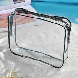Clear Waterproof Cosmetic Toiletry PVC Organizer Zip Travel