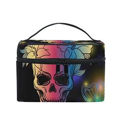 Cooper girl Bling Skull And Butterfly Cosmetic Bag Travel Ma