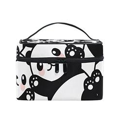Cooper girl Cute Panda Cosmetic Bag Travel Makeup Train Case