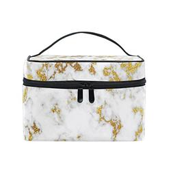 Cooper girl Gold Marble Cosmetic Bag Travel Makeup Train Cas