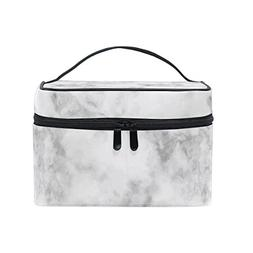 Cooper girl Grey Marble Cosmetic Bag Travel Makeup Train Cas