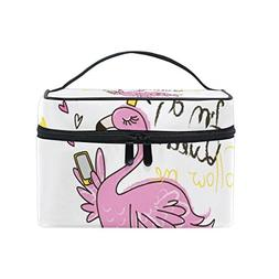 Cooper girl Queen Flamingo Cosmetic Bag Travel Makeup Train