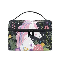 Cooper girl Unicorn Are Real Cosmetic Bag Travel Makeup Trai