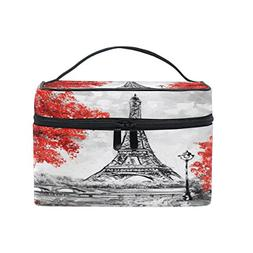 Cooper girl Vintage Eiffel Tower Cosmetic Bag Travel Makeup