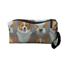 Corgi Dog Make-up Travel Bag Cosmetic Bag Zipper Pouch Carry