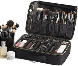 ROWNYEON Cosmetic Bag Makeup Artist Makeup Train Case Portab
