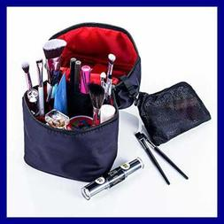 Cosmetic Bag SMALL Makeup Organizer Portable Travel Case Bru