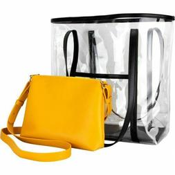 Cosmetic Bags Set Makeup and Transparent Tote with Purse Bag