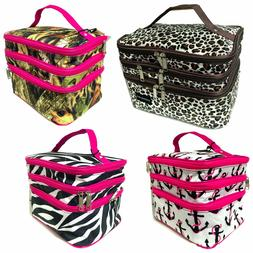 """Cosmetic Tote Bag"" ""Triple Layered"""