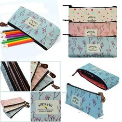 Miayon Countryside Flower Floral Pencil Pen Case Cosmetic Ma