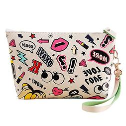 Yonger Cute Waterproof Cosmetic Pouch Travel Case Make up Ba