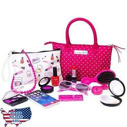 PixieCrush Deluxe Pretend Play Kid Purse Set for Girls with