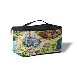 Queen of Cases Disneyland Colorful Map Cosmetics Storage Cas