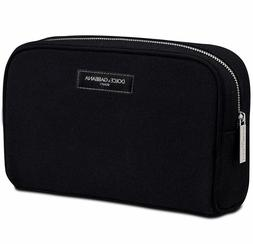 Dolce & Gabbana Beauty Black Cosmetic Makeup Bag Pouch Toile
