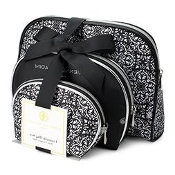 Adrienne Vittadini Set of 3 Dome Cosmetic Cases