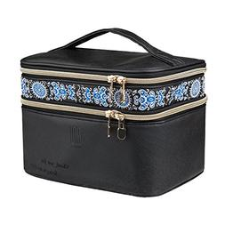 Makeup Case EN'DA Double Layer Make up Travel Cosmetic Bags