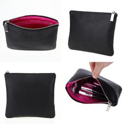 LOUISE MAELYS Double Layers Zipper Cosmetic Bag Makeup Brush