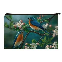 Eastern Bluebirds Blue Birds Thrush Makeup Cosmetic Bag Orga