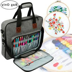Embroidery Project Bag Storage Tote for Sewing Kit Art and C